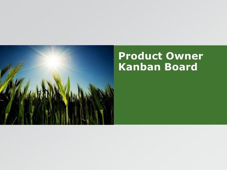 Product Owner Kanban Board<br />