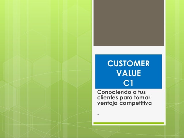 Customer value01 CRM