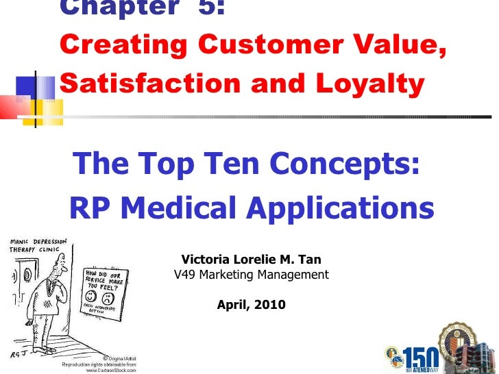 Chapter  5: Creating Customer Value, Satisfaction and Loyalty The Top Ten Concepts:  RP Medical Applications Victoria Lore...