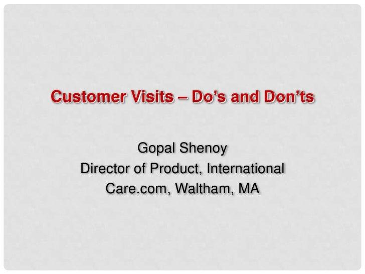 Customer visits 10 do s and don ts