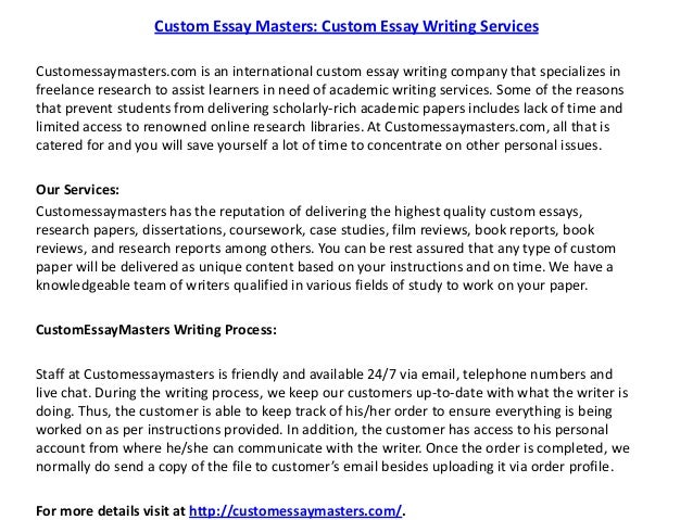 Popular Custom Essay Editing Website For Masters
