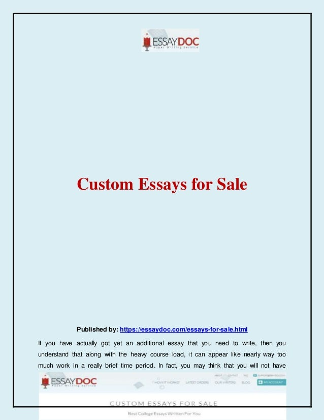 Quality custom essays for sale