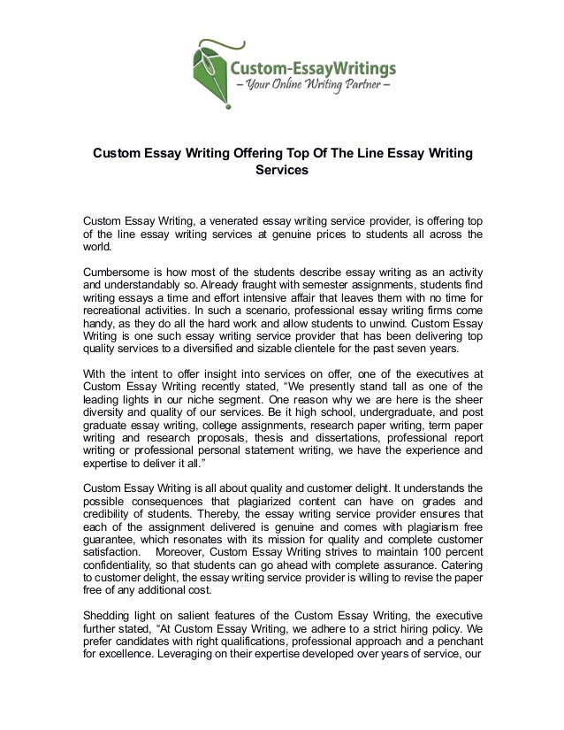 Custom Essay Writing Services Us