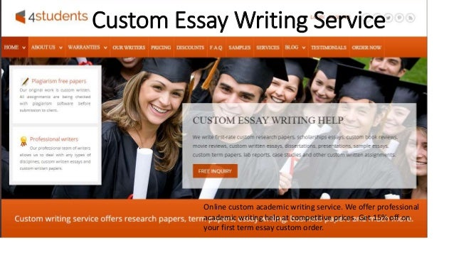 Custom essay and dissertation writing service it order custom
