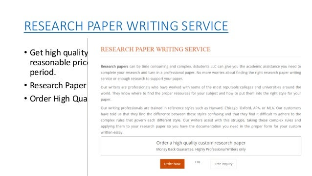 Research Paper Examples and Samples
