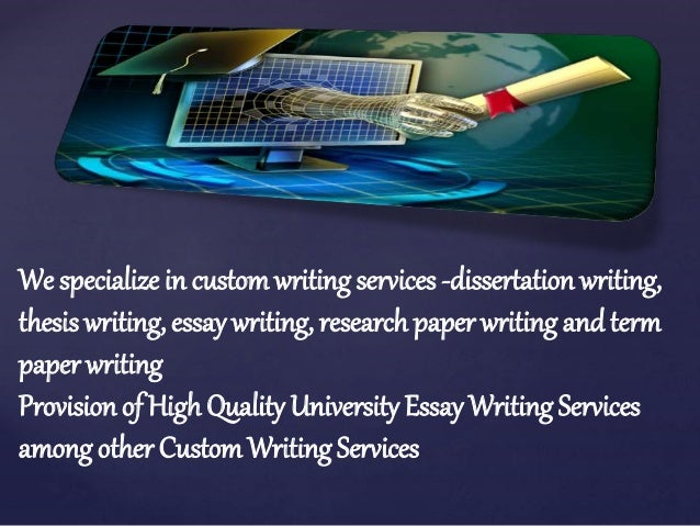Custom essay and dissertation writing service it has anyone used