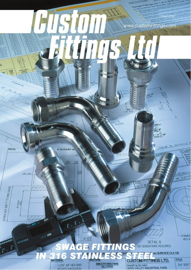 Swage fittings in stainless steel