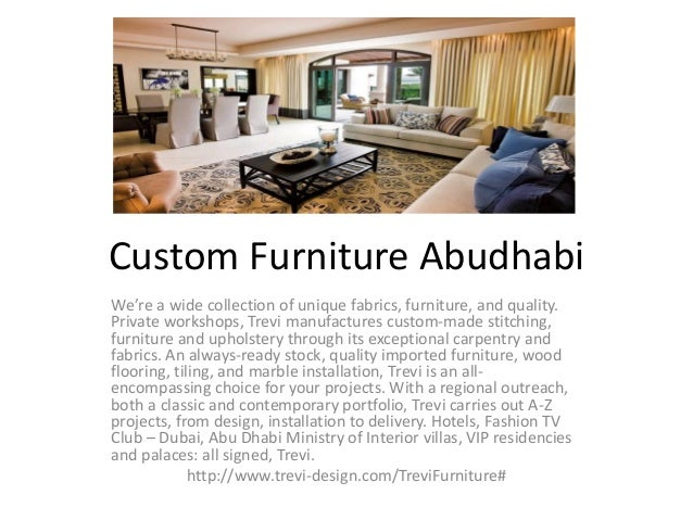Custom Furniture Abudhabi