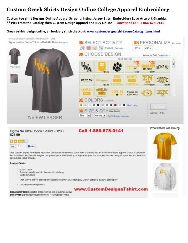 Custom Greek Shirts Design Online College Apparel EmbroideryCustom tee shirt Designs Online Apparel Screenprinting, Jersey...
