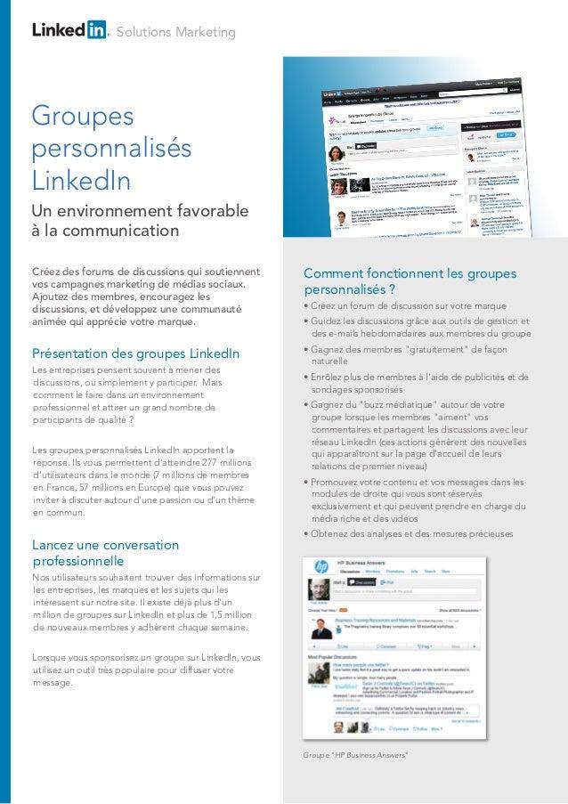LinkedIn - Groupes personnalisés