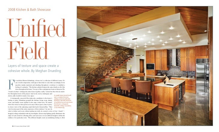 Canal Front Residence appears in Custom Home Magazine