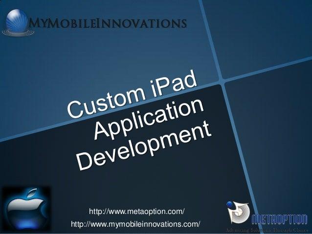 Custom iPad Application Development