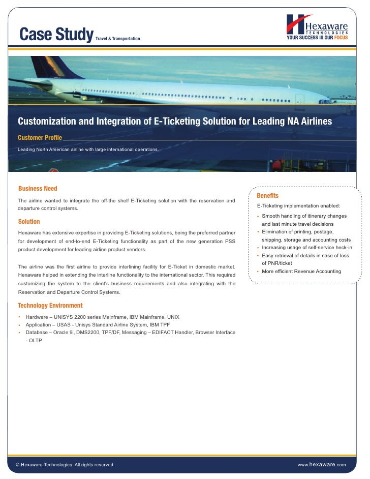 Case Study                          Travel & TransportationCustomization and Integration of E-Ticketing Solution for Leadi...