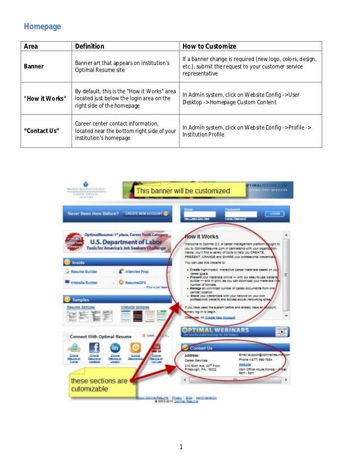 optimal resume login - Sanford Brown Optimal Resume