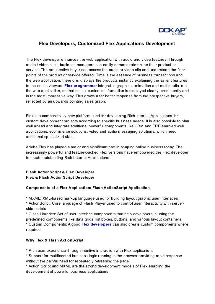 Flex Developers, Customized Flex Applications Development