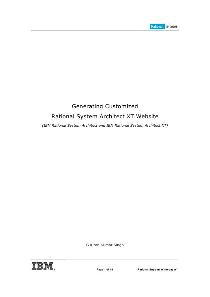 Customizing System Architect XT Web Pages