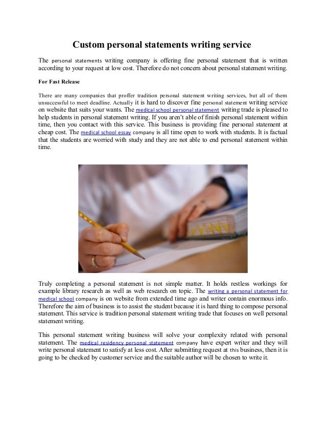 Custom personal statement writing services