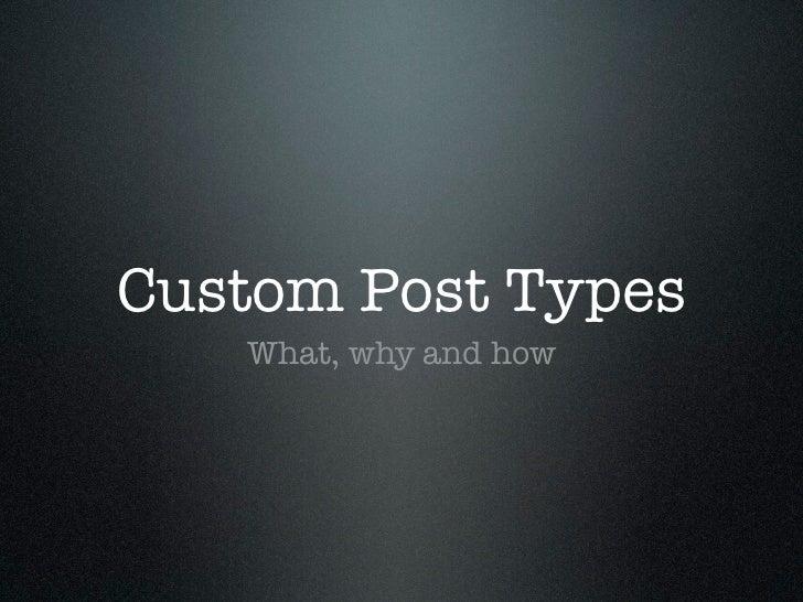 Custom post types - WordPress