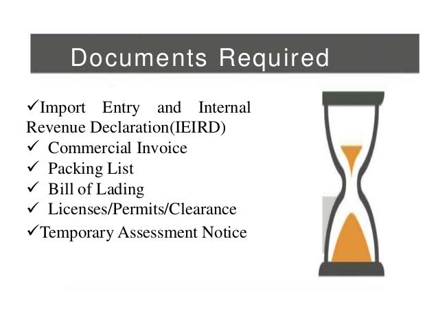 Customs papers