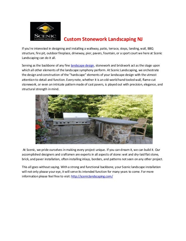 Custom stonework landscaping nj