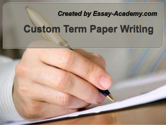 Custom written term papers illegal
