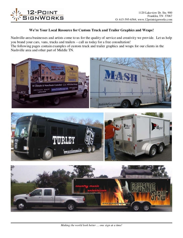Custom Trailer Wraps and Graphics Examples