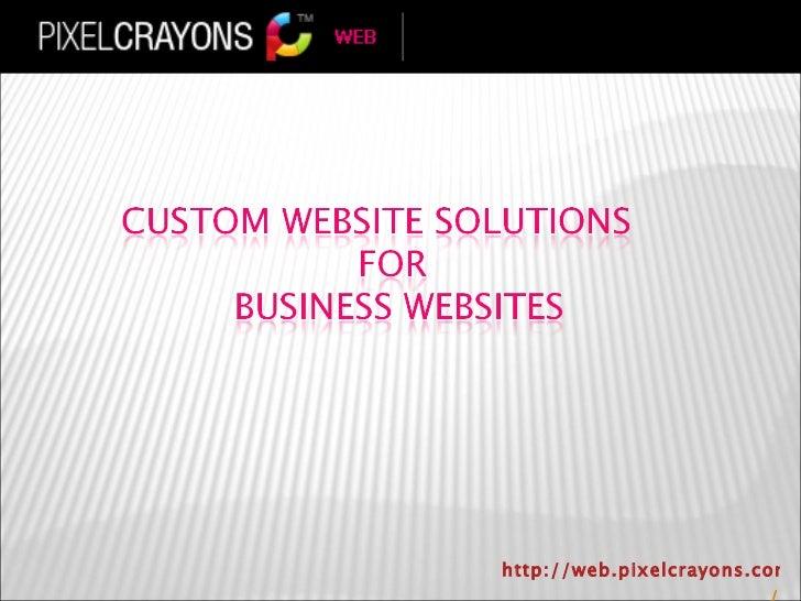 Custom website solutions for business websites