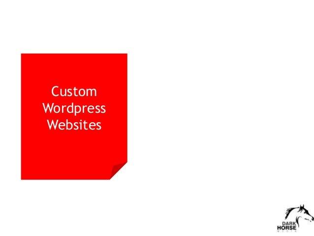 Custom Wordpress Websites