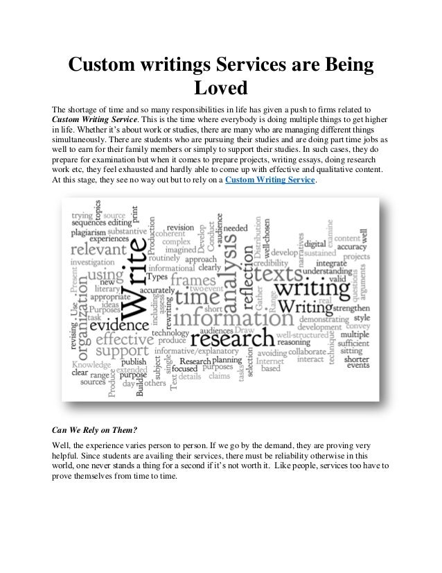 Custom writings services