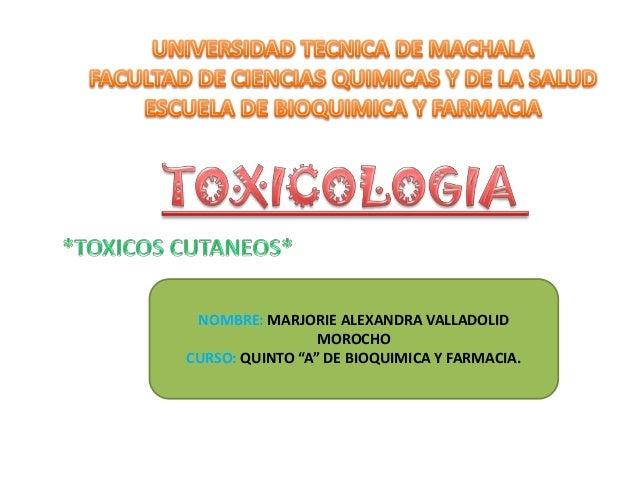 """NOMBRE: MARJORIE ALEXANDRA VALLADOLID MOROCHO CURSO: QUINTO """"A"""" DE BIOQUIMICA Y FARMACIA."""