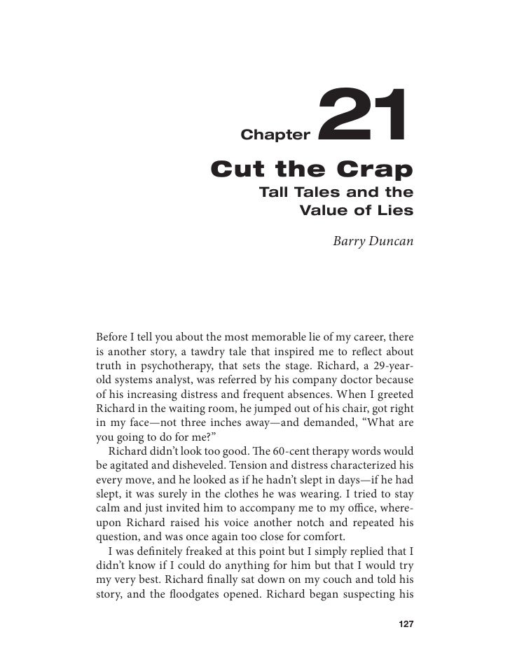 Chapter         21                        Cut the Crap                                   Tall Tales and the               ...