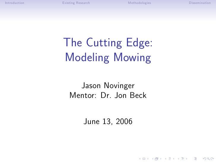 Cutting Edge Proposal
