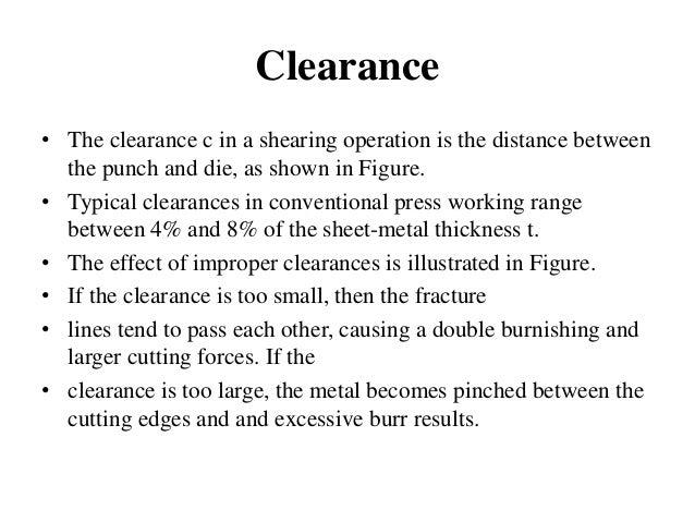 sheet metal cutting operations pdf