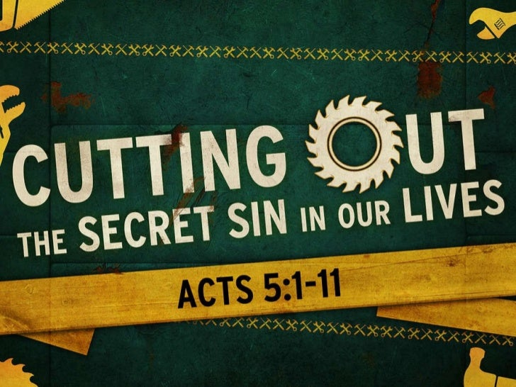 Cutting Out the Secret Sin