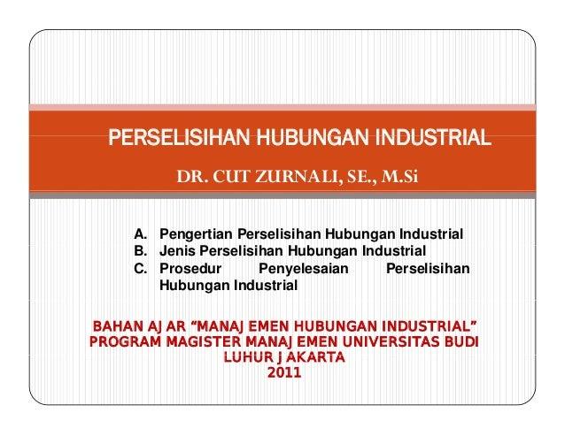 Cut Zurnali - Perselisihan Hubungan Industrial