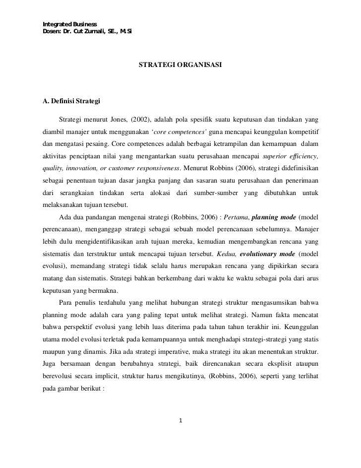 Cut Zurnali - Strategi Organisasi