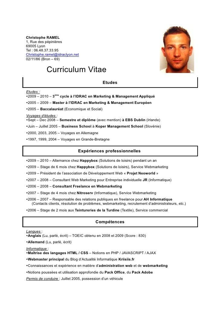 CV Christophe RAMEL