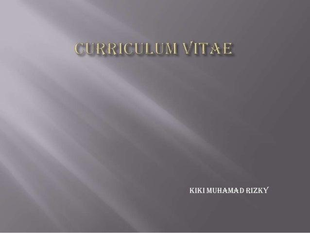 Kiki Muhamad Rizky