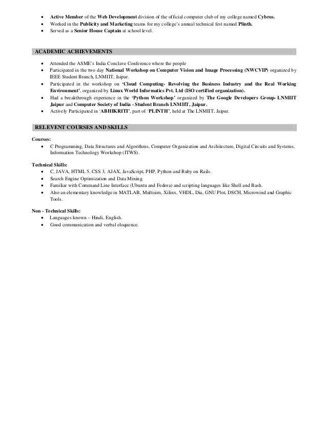 my resume on slideshare would help me improve my prospects of securin…