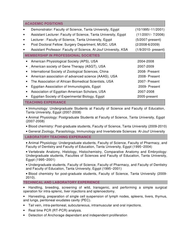 Resume Writing for Non-academic Science Careers - Addgene Blog