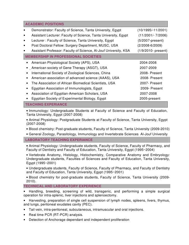 resume format  resume format for lecturer post
