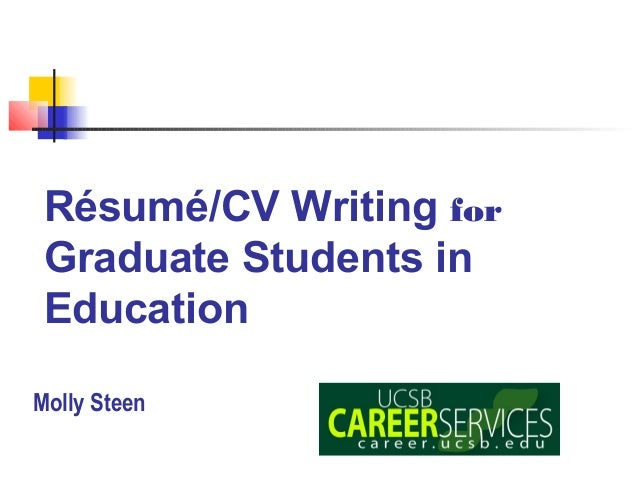 CV/Resume Writing Workshop by Molly Steen