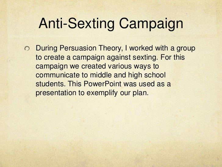 Cv sexting presentation-persuasion theory