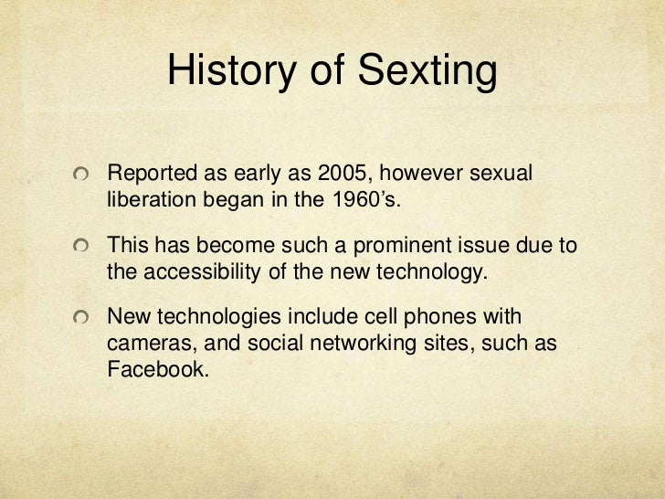 Exploratory Essay on Sexting?