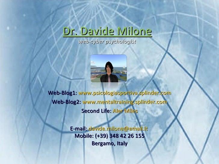 <ul><li>Web-Blog1:  www.psicologiasportiva.splinder.com </li></ul><ul><li>Web-Blog2:  www.mentaltraining.splinder.com </li...