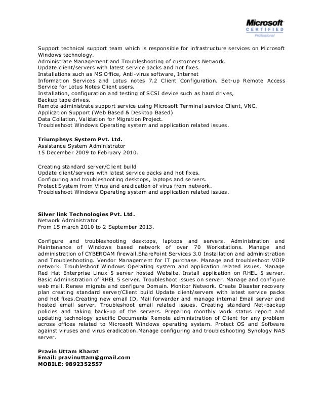 Junior Network Administrator Resume Sample Professional Templates System  Administration Exquisite ...  System Administrator Resume Examples
