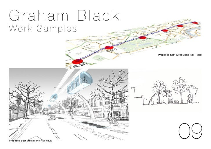 Graham Black Work Samples                                        Proposed East West Mono Rail - Map     Proposed East West...