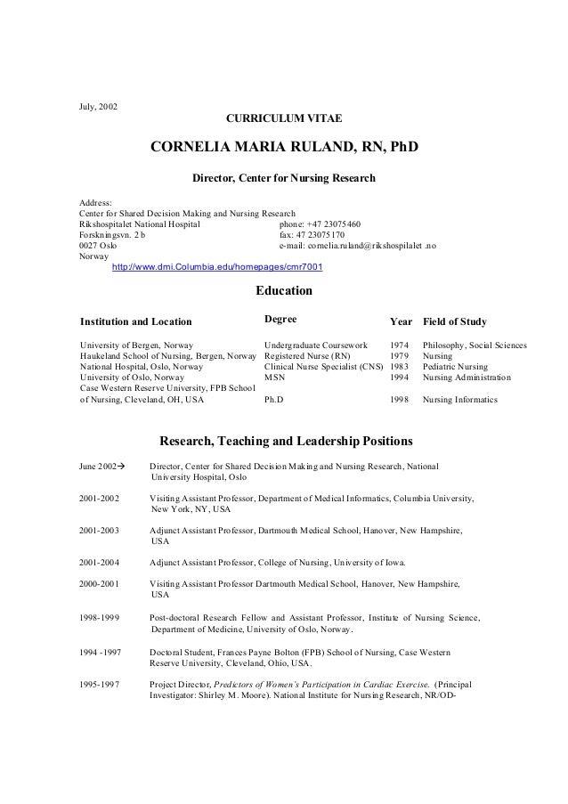 Cv Cornelia M. Ruland