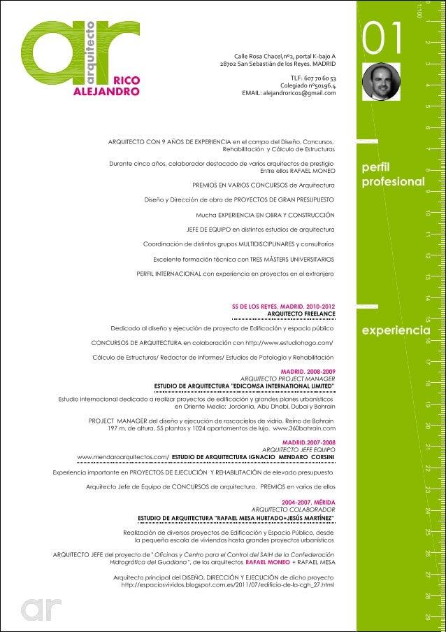 Curriculum vitae curriculum vitae arquitecto - Trabajo de arquitecto en madrid ...