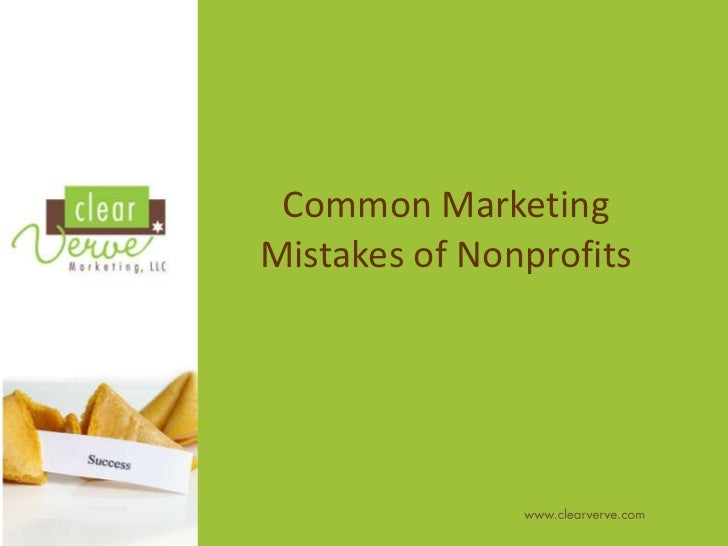 Common Marketing Mistakes of Nonprofits